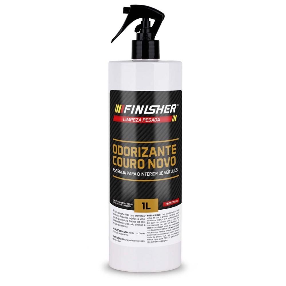 Odorizante Cheirinho Finisher Couro Novo Spray 1 Litro