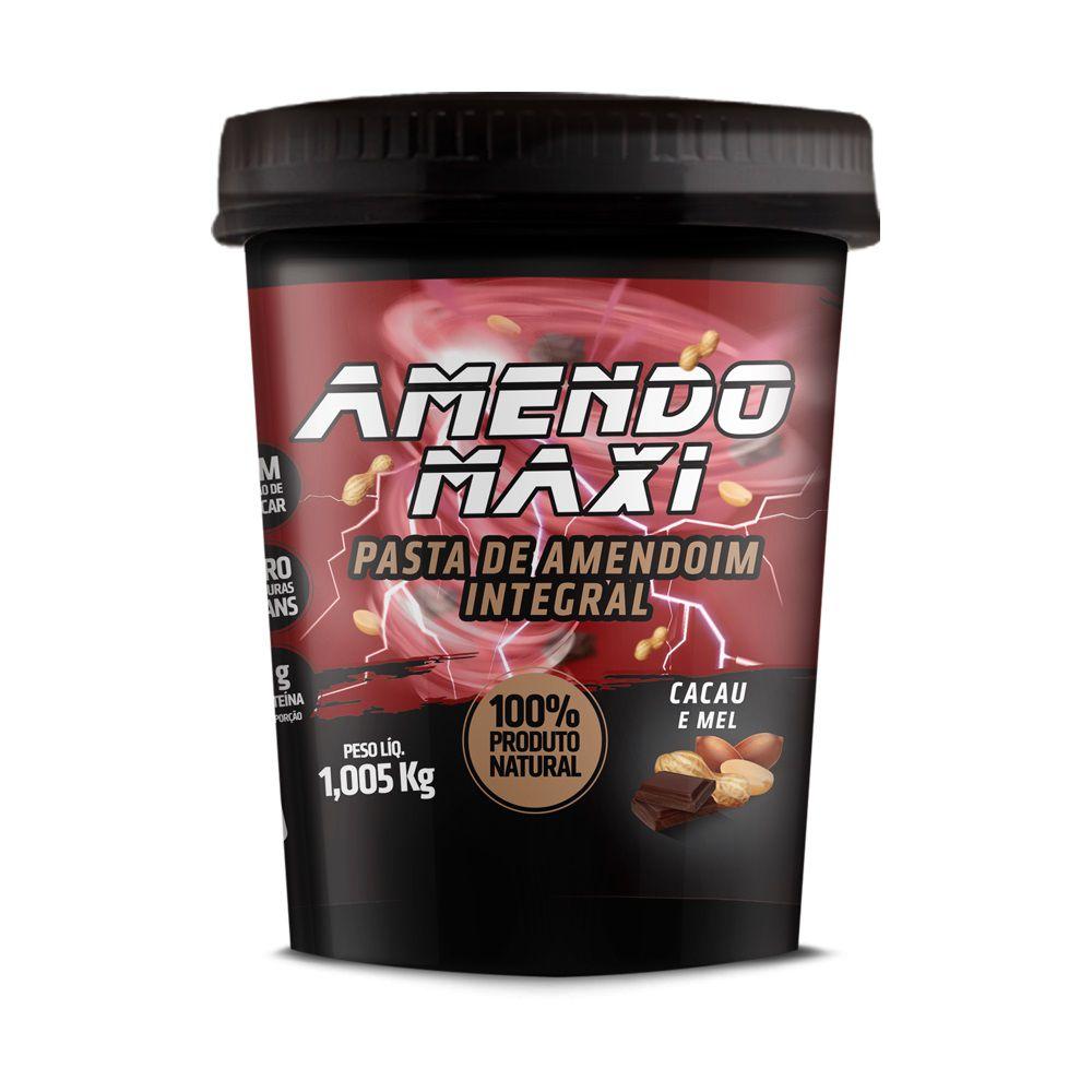 Pasta de Amendoim Integral Amendomaxi 1kg - Cacau e Mel