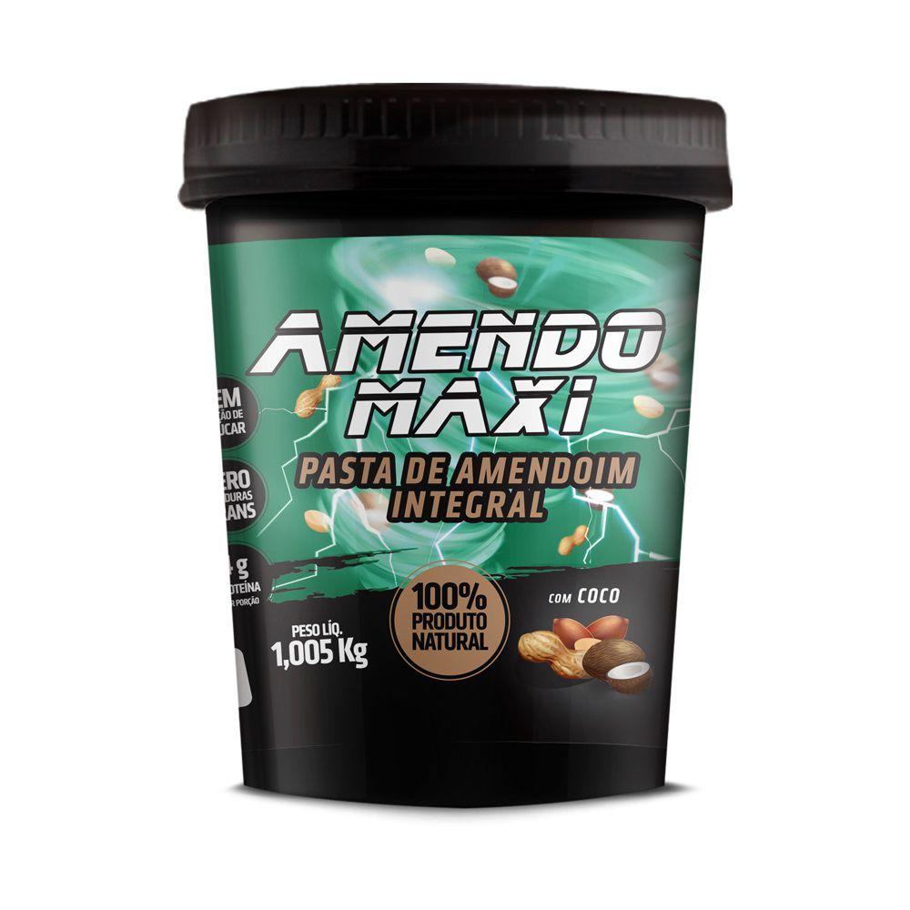 Pasta de Amendoim Integral Amendomaxi 1kg - Com Coco