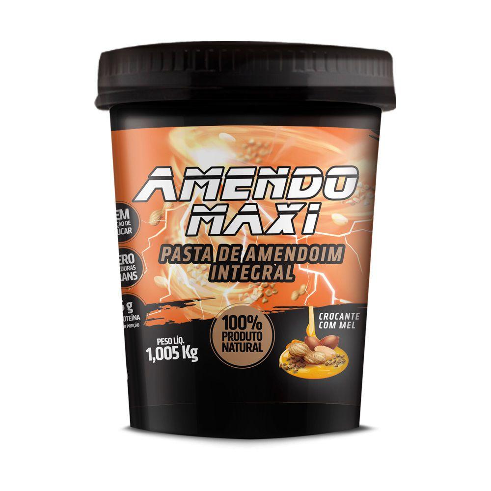Pasta de Amendoim Integral Amendomaxi 1kg - Crocante com Mel
