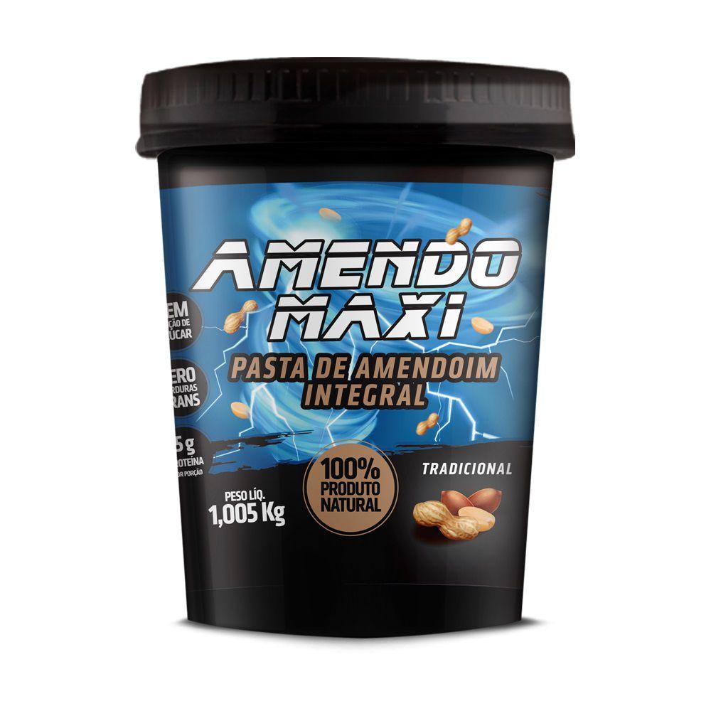 Pasta de Amendoim Integral Amendomaxi 1kg - Tradicional