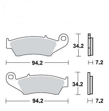 Pastilha de Freio Dianteira Honda CR 125/250R 1995 a 2007 - WRP