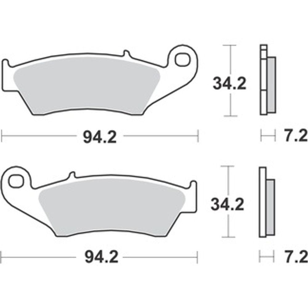 Pastilha de Freio Dianteira Honda CRF 250/450R 2002 a 2018 - WRP