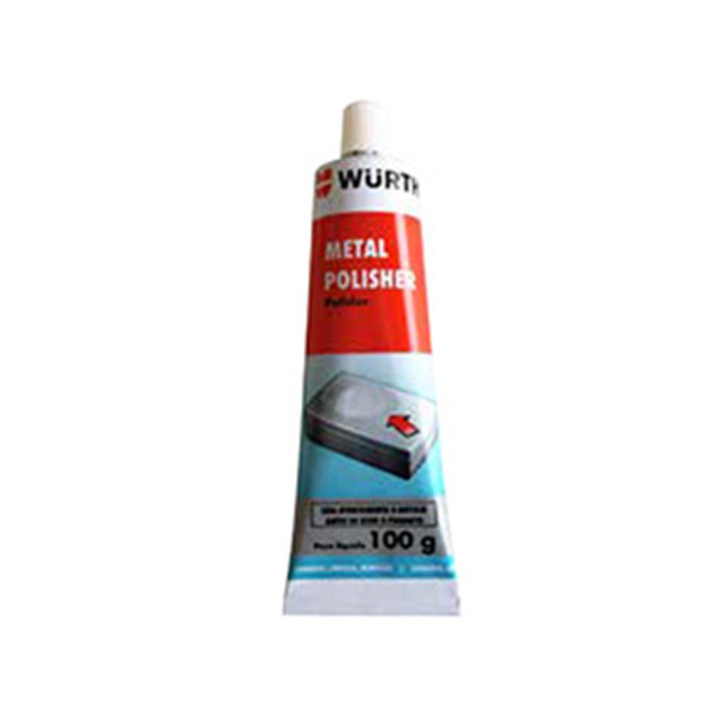 Polidor de Metais Alumínio e Cromados Metal Polisher Wurth - 100g