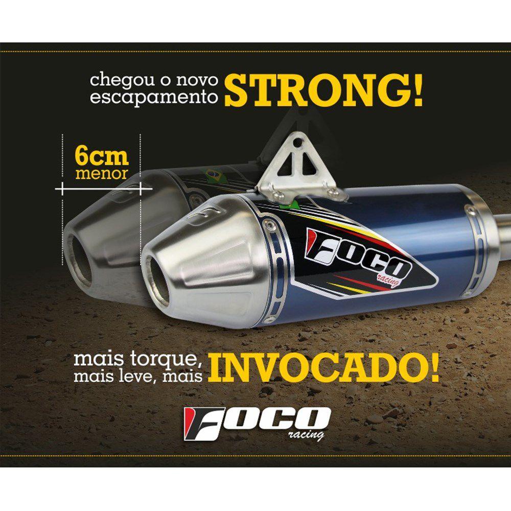 Ponteira + Curva De Escapamento CRF 230 Strong Foco Racing - Azul Royal