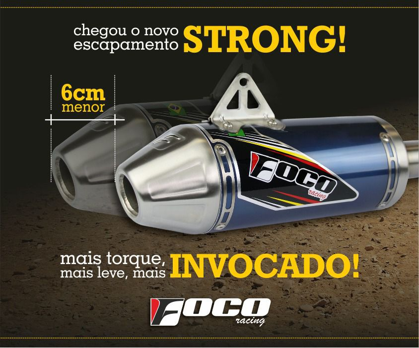 Ponteira + Curva De Escapamento CRF 230 Strong Foco Racing - Preta