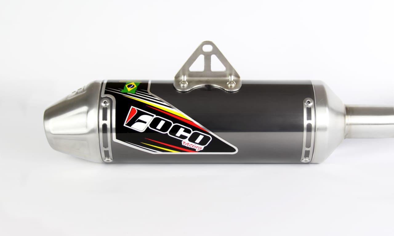 Ponteira + Curva De Escapamento CRF 230 Strong Foco Racing - Titanio