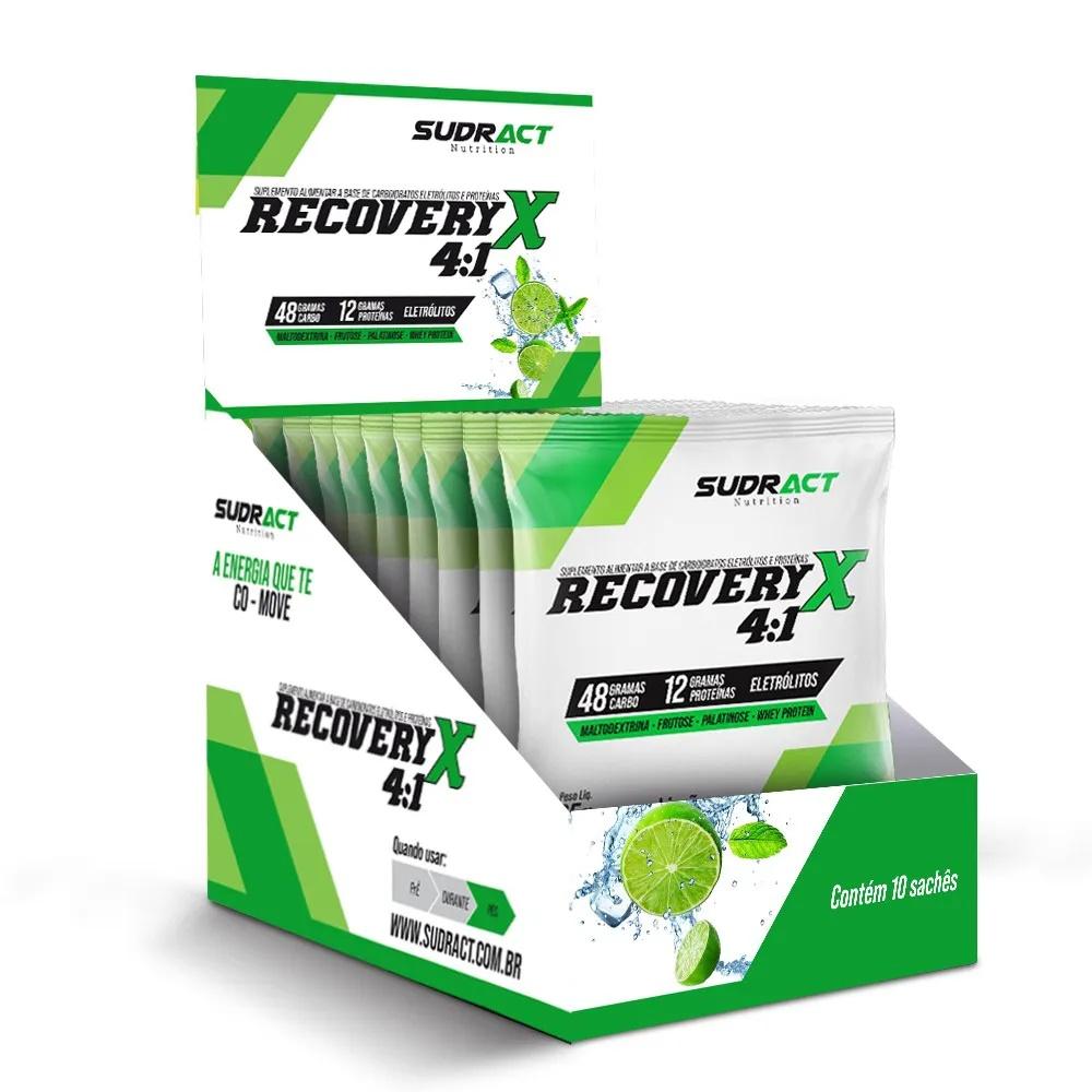 Recovery X 4:1 10 sachês de 65g - Sudract Nutrition