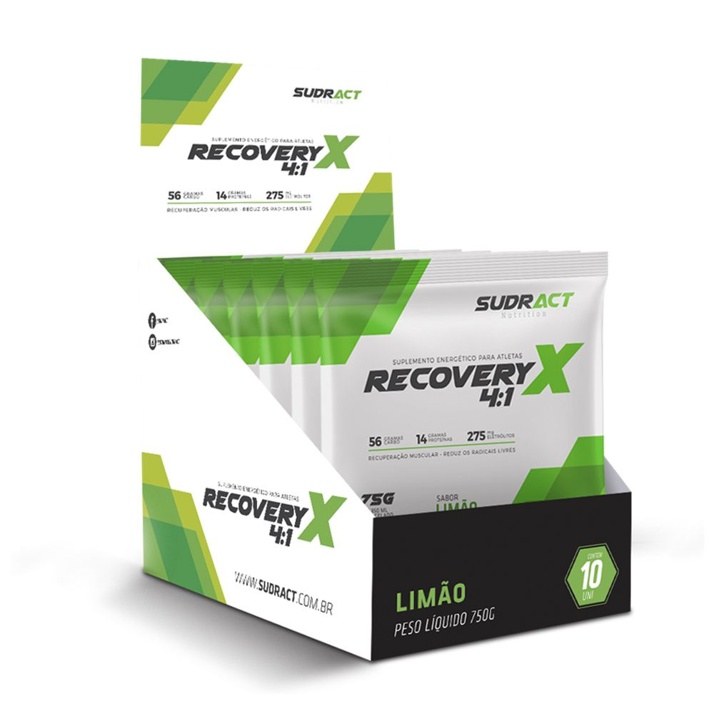 RecoveryX 4:1 Sudract 75g Display 10 unidades