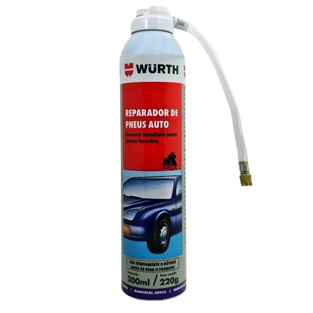 Reparador de Pneu Auto Wurth  300ML/220G