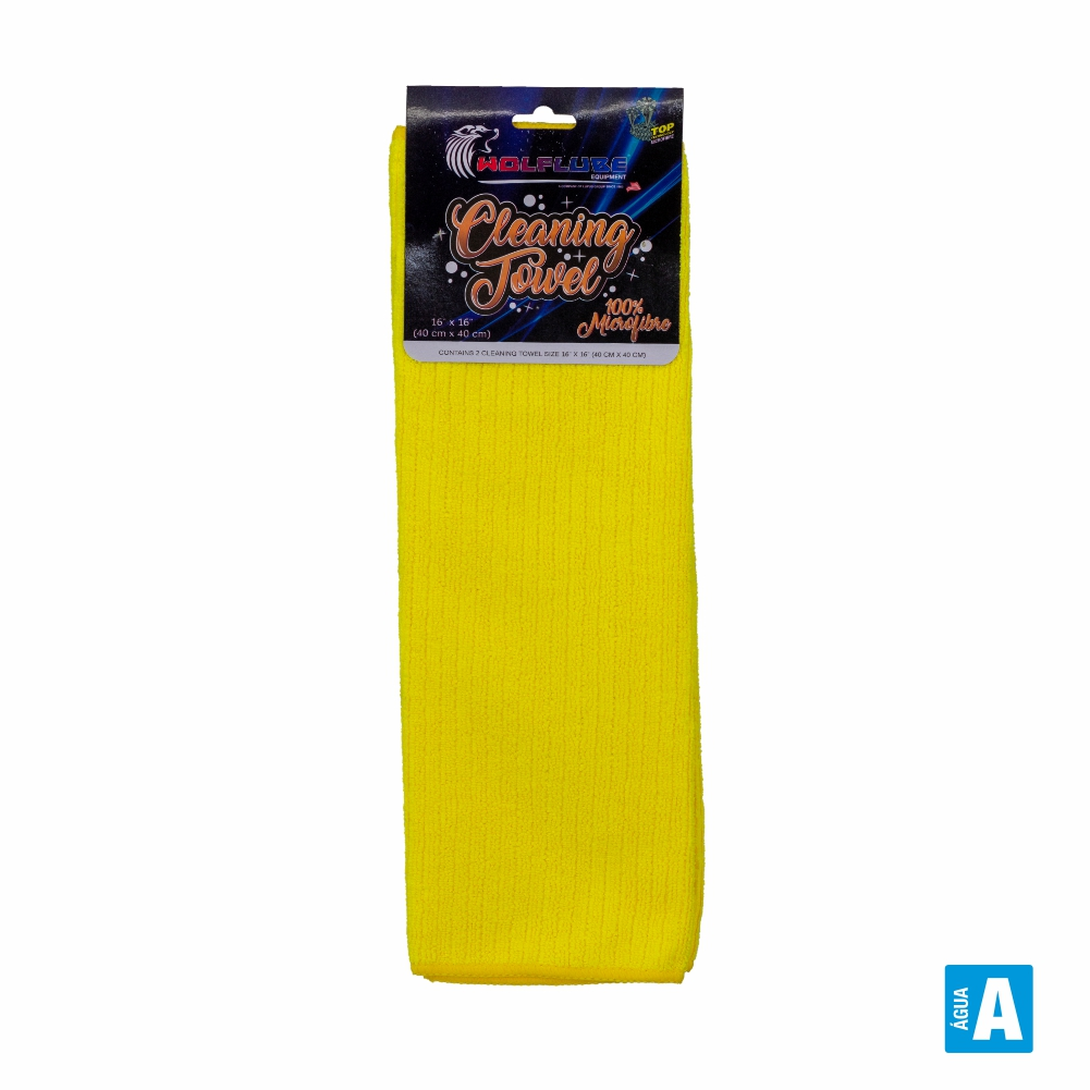 Toalha Micro Fibra Limpeza 40x40cm 2 Und. - WOLFLUBE
