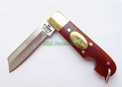 Canivete Zebu Barretos 607 Aço Inox Madeira e Latão c/ Bainha