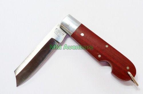 Canivete Zebu 601 Aço Carbono Madeira e Alumínio c/ Bainha