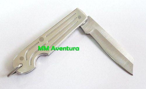 Canivete Zebu Barretos 615 Aço Inox e Alumínio c/ Bainha