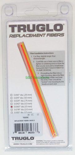 Fibra Ótica Truglo Kit Reposição Alça Massa Mira TG05B 1.0mm