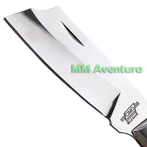 Canivete Cimo Aço Inox Alumínio e Madeira c/ Bainha 320/7