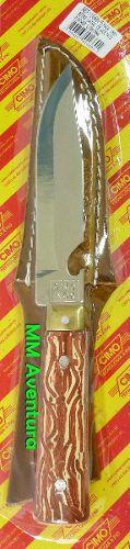 Faca Cimo Aço Inox c/ Abridor de Garrafa e Bainha 1660/5  - MM Aventura