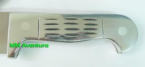 Facão Cimo Aço Inox Faconete c/ Bainha 1140/12  - MM Aventura