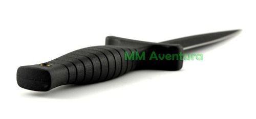 Faca de Bota Punhal Tático Boot Knife Taue c/ Bainha 9B