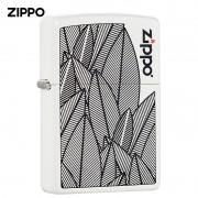 Isqueiro Zippo Branco Leaves Design Folhas Jardim Natureza 49214
