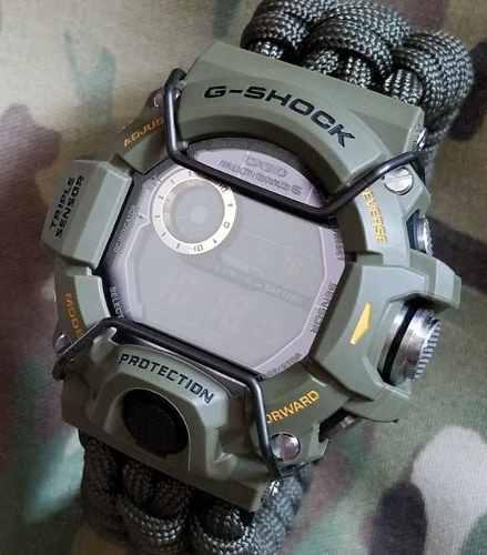 Protetor Metálico Bullbar JaysAndKays p/ Relógio G-Shock GW9400 Rangeman GA1100 GA1000 GWA1100