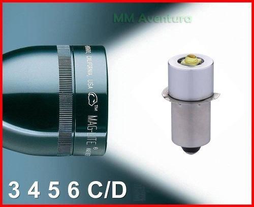 Led Upgrade Lanterna Maglite 350 Lumens Lâmpada 3 4 5 6 C D