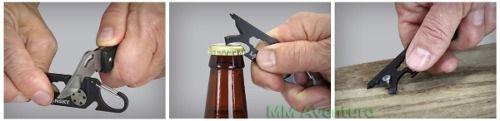 Chaveiro Lansky Roadie Afiador de Canivete Mosquetão Pé-de-cabra EDC 8 em 1