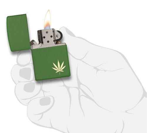 Isqueiro Zippo Original 29588 Leaf Folha Marijuana Lacrado