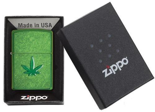 Isqueiro Zippo Original 29662 Leaf Folha Estampada Marijuana