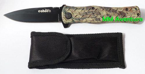 Canivete Forest Echolife Inox Camuflado Militar