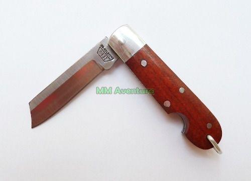 Canivete Zebu Barretos 604 Aço Carbono Madeira e Alumínio c/ Bainha