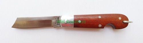Canivete Zebu Barretos 604 Aço Carbono Madeira e Alumínio c/ Bainha  - MM Aventura