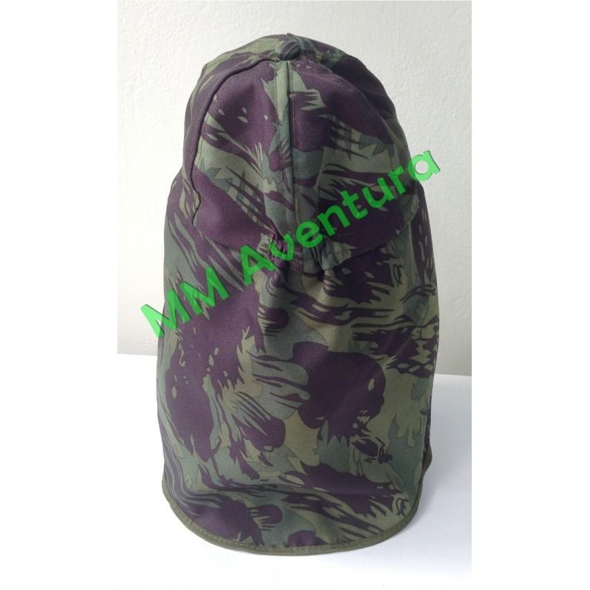 Boné Chapéu Camuflado Verde ou Bege Com Proteção de Pescoço