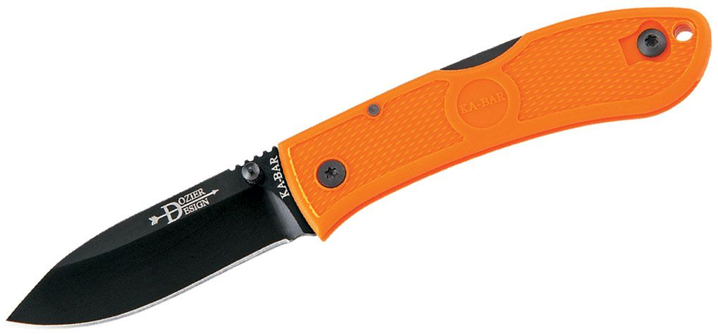 Canivete Ka-bar Dozier Folding Hunter Blaze Orange Laranja 4062BO