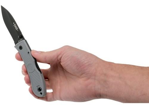 Canivete Ka-bar Dozier Folding Hunter Cinza Gray 4062GY