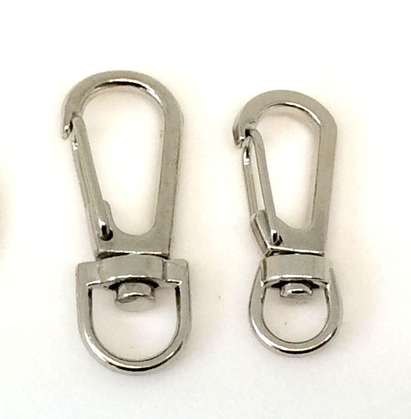 Clip Metálico Carabiner Paracord Mosquetão EDC Giratório Bead - 3 pç