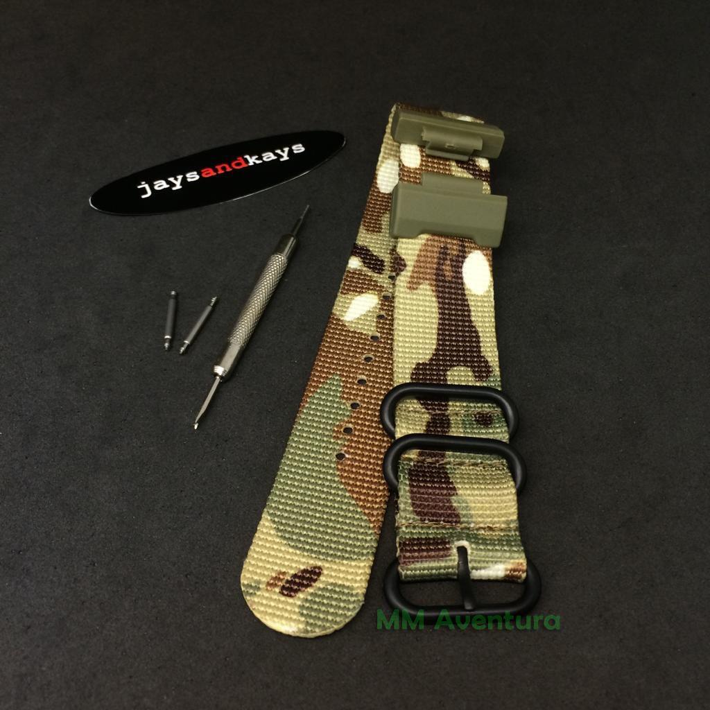 Pulseira de Nylon Nato Zulu JaysAndKays c/ Adaptador p/ G-Shock DW5600 GA100 etc