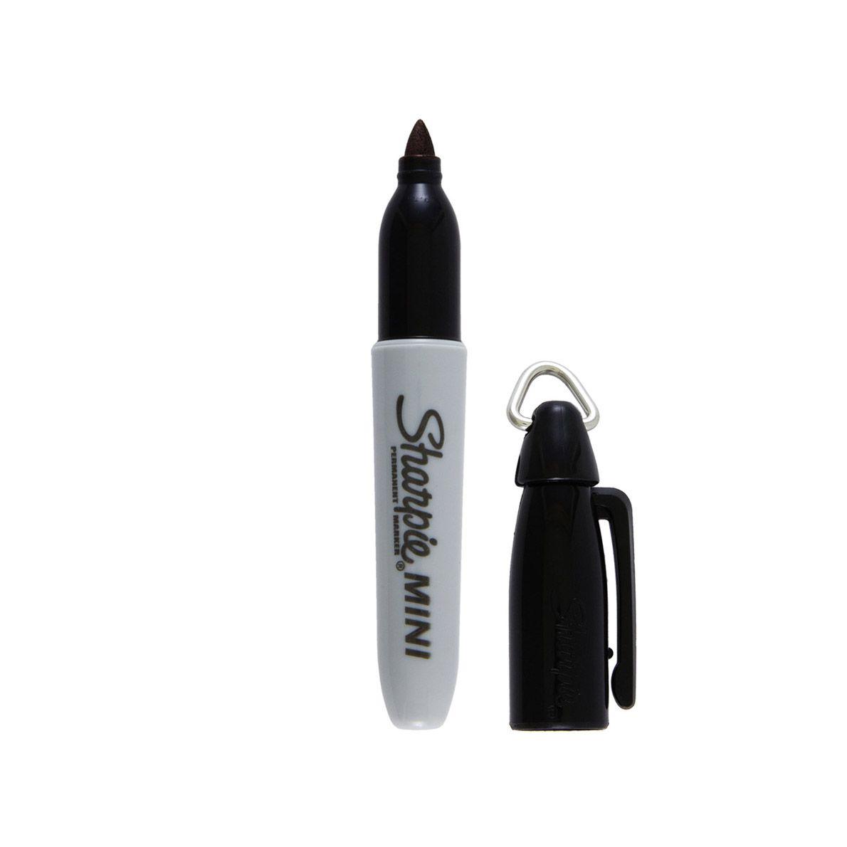 Kit 4 Cores de Caneta Permanente Sharpie Mini Marcador Universal c/ Argola