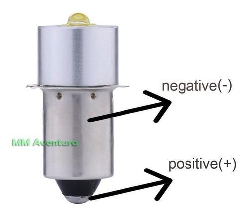 Led Upgrade Lanterna Maglite 350 Lumens Lâmpada 2 Pilhas C e D