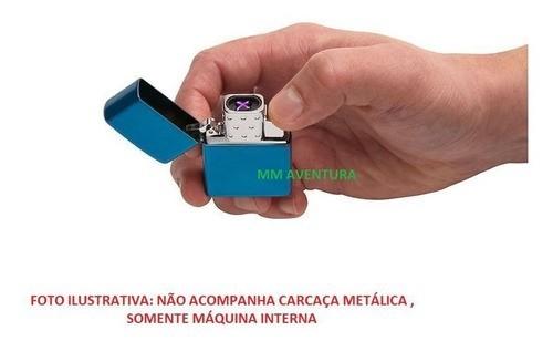 Máquina Insert Isqueiro de Plasma Zippo USB Recarregável Arc Lighter Insert 65828
