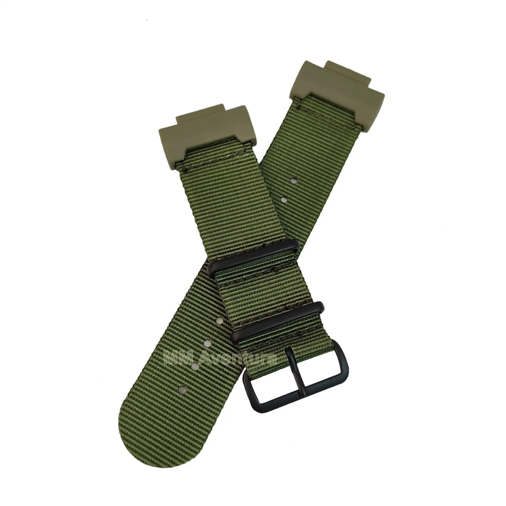 Pulseira de Nylon Nato JaysAndKays c/ Adaptador para G-Shock GX56 GW9400 G1000 G9300 Etc