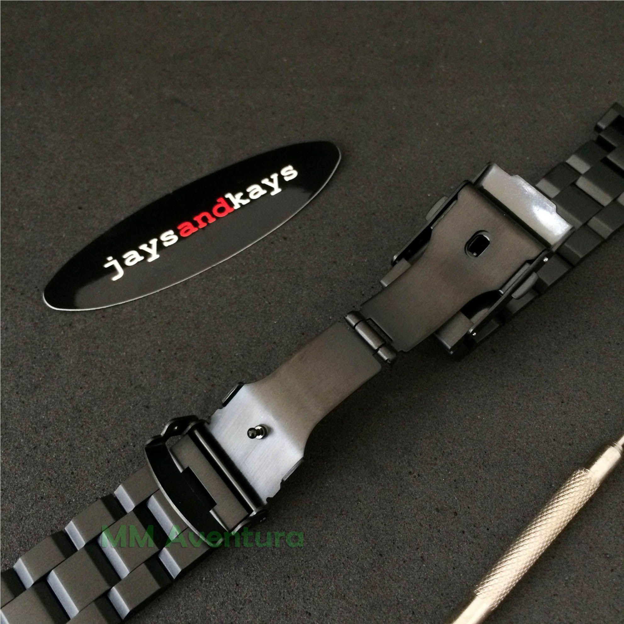 Pulseira em Aço Inox JaysAndKays p/ G-Shock 22mm GX56 GD350 GA100 etc