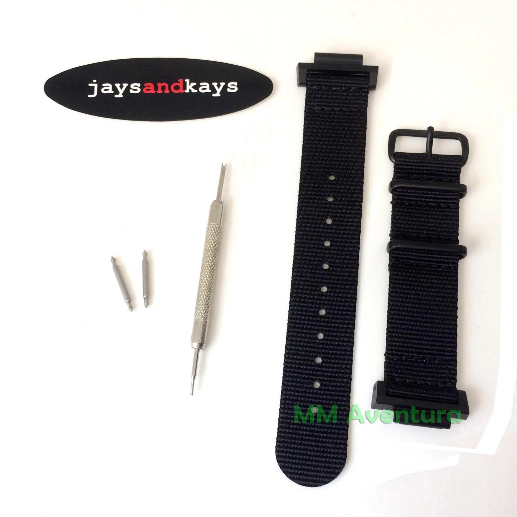 Pulseira Nylon 2 pç Nato JaysAndKays 24mm  p/ Casio G-Shock GG-B100