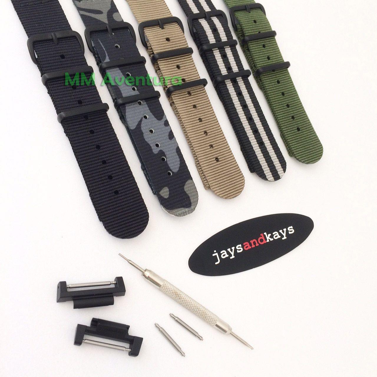 Pulseira Nylon 2 pç Nato Zulu JaysAndKays p/ G-Shock 20mm p/ DW5600 e outros