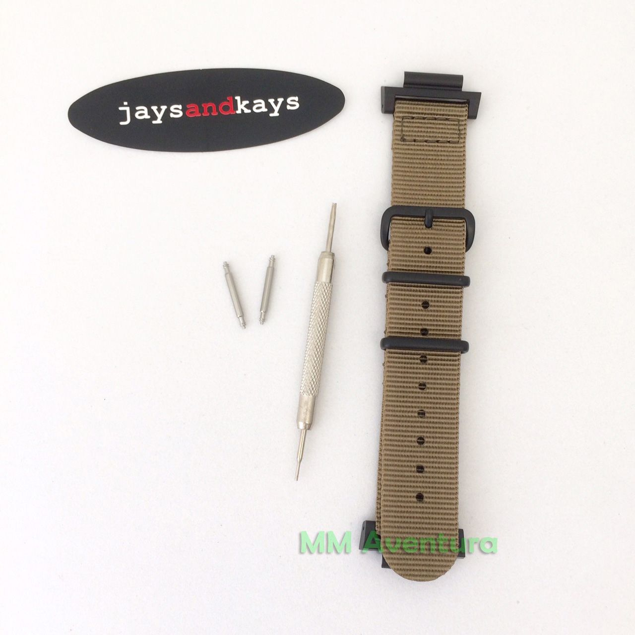 Pulseira Nylon 2pç Nato JaysAndKays p/ G-Shock 20mm p/ DW5600 e outros