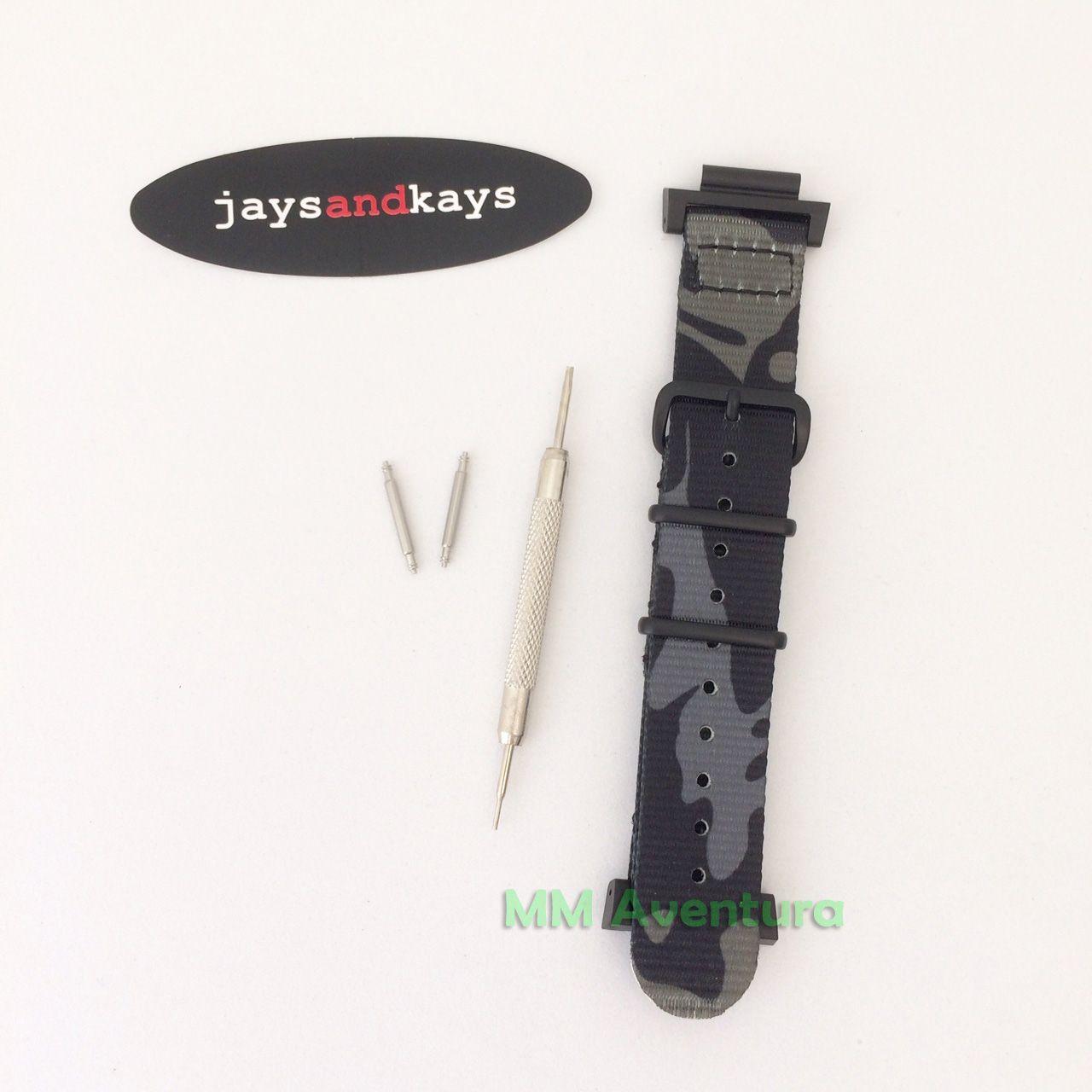 Pulseira Nylon 2 pç Nato Zulu JaysAndKays p/ G-Shock 22mm GX56 GD350 GA110 etc