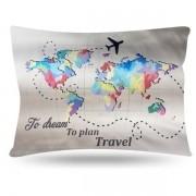 Fronha de Cetim - Mapa - Viajar - Anti Frizz