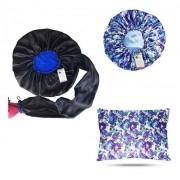 Kit 1 Difusora Azul - 1 Touca Floral Azul I e 1 Fronha Floral Azul I