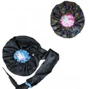 Kit 1 Difusora Azul Claro e 1 Touca Borboletas Rosa