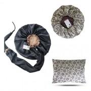 Kit 1 Difusora Bege - 1 Touca Floral Animal e 1 Fronha Floral Animal